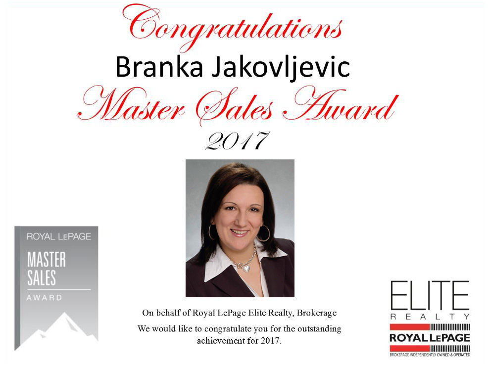 Branka Jakovljevic - Award Winning Services 2017